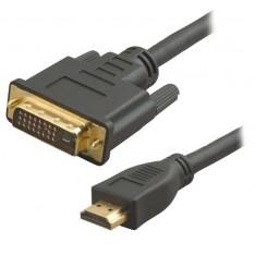 Кабель HDMI-DVI для монитора, фильтр, 2 метра