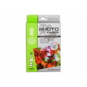 Фотобумага Cactus 230 г/м 10х15 глянец 100 листов