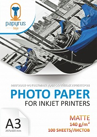Фотобумага матовая А3 140 г/м 100 листов купить