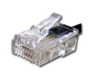 Телефонный разъем RJ-12 для обжима кабеля