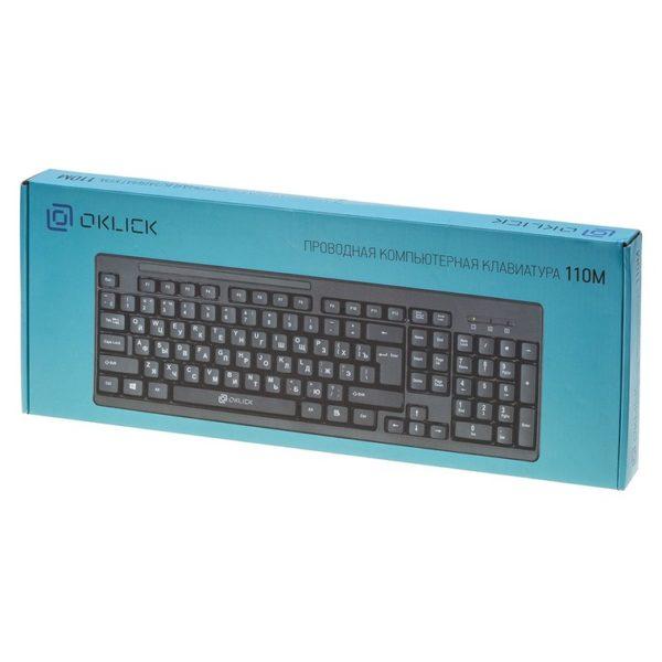 Клавиатура Oklick 110M USB черная