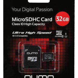 Карта памяти microSDHC 32 Гб Qumo класс 10