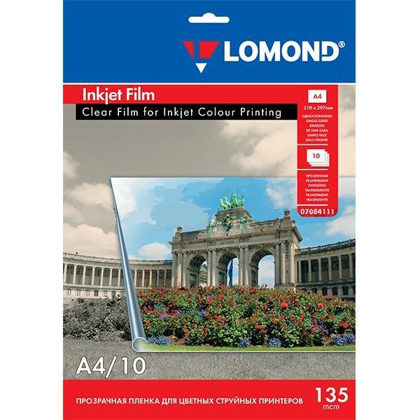 Прозрачная пленка Lomond 135 мкм струйная А4 10л