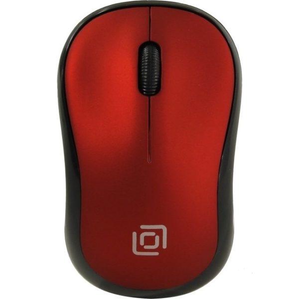 Беспроводная оптическая мышь Oklick 655MW красная
