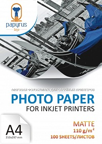 Фотобумага матовая А4 110 г/м 100 листов