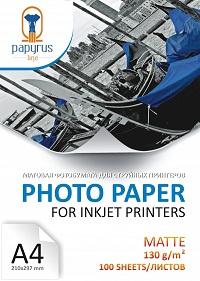 Фотобумага матовая А4 130 г/м 100 листов