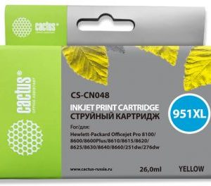 Картридж аналог 951XL для HP 8100/8600 yellow