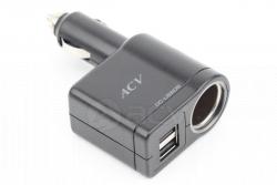 Зарядное устройство ACV 2 USB прикуриватель