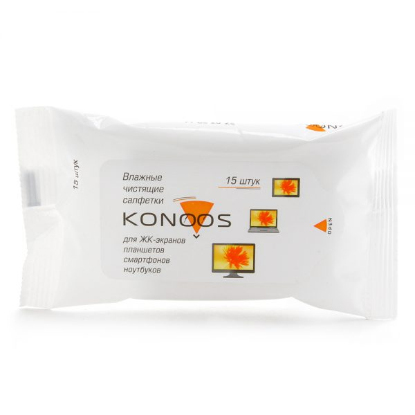 Салфетки для монитора Konoos KSN-15 15шт