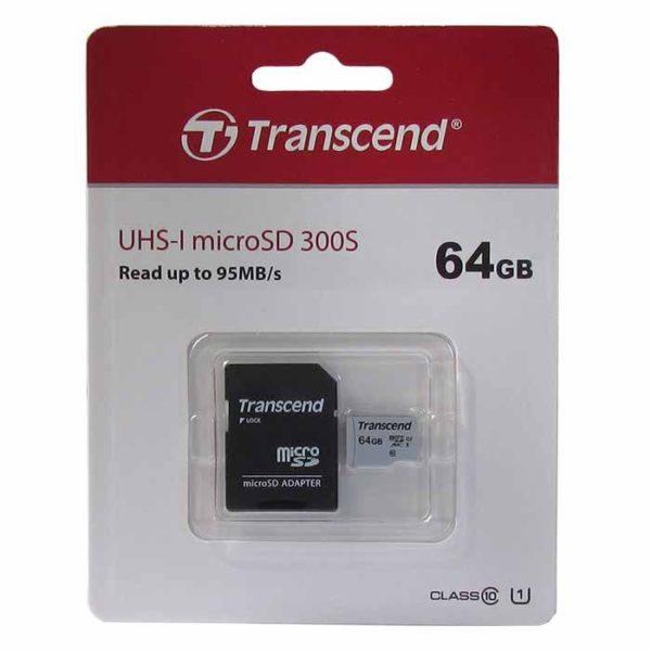 Карта памяти microSDXC 64 Гб Transcend класс 10