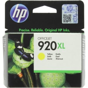 Картридж HP 920 XL желтый в принтер 6500 7500