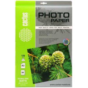 Бумага Cactus 170 г/м2 матовая А3 CS-MA317050DS
